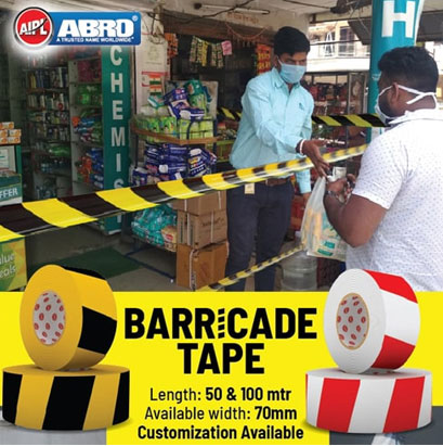 Social Distancing Barricade Tape